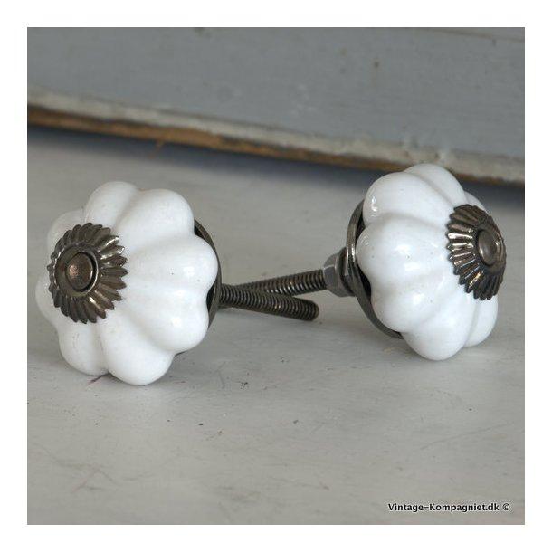 Knop - klassisk hvid