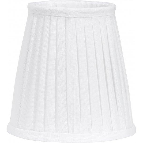 Lampeskærm - plisseret hvid - 21 cm