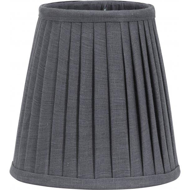 Lampeskærm - plisseret grå - 21 cm