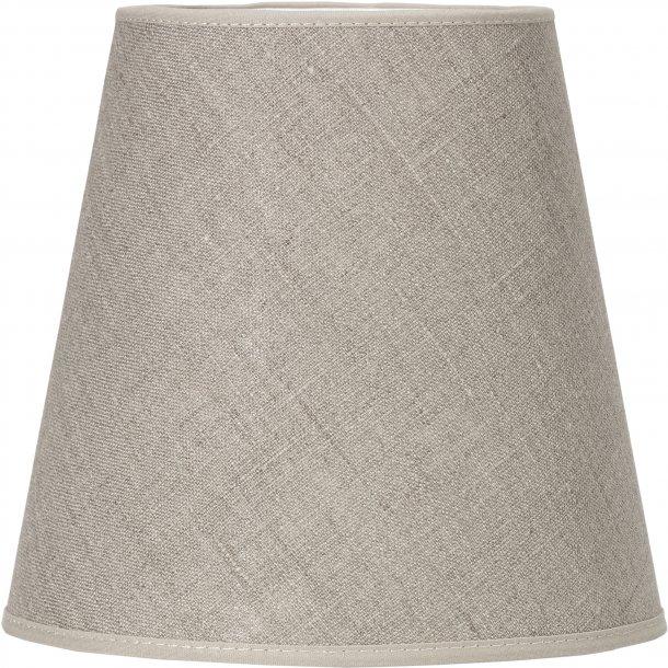 Lampeskærm - hør farvet - 20 cm