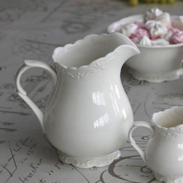 Kande - hvidt porcelæn - provence