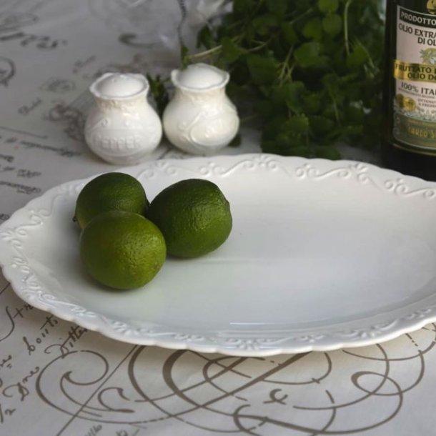 Fad i provence porcelæn - ovalt