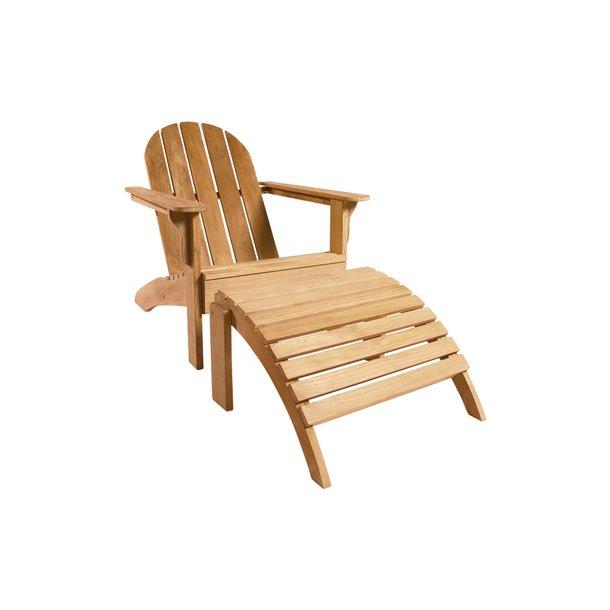 Fodskammel til Adirondack hvilestol i teaktræ