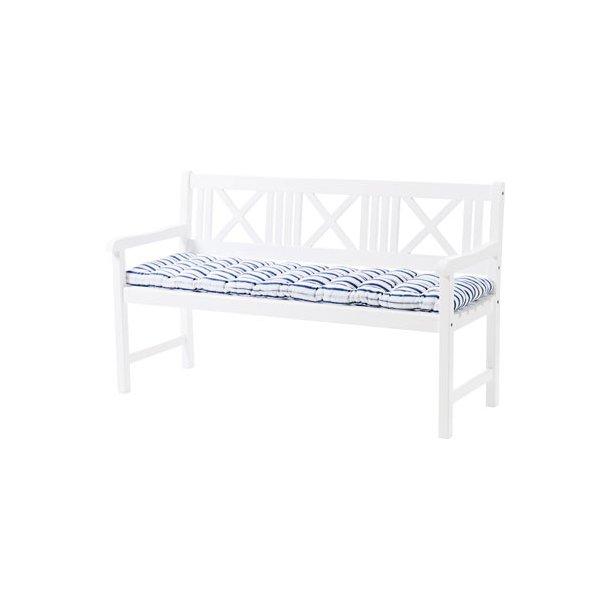 Rosenborg hvid havebænk - romantiske havemøbler