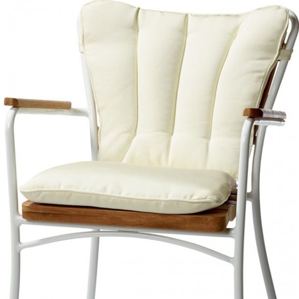 Havehynde / ryg og sæde i et - off white