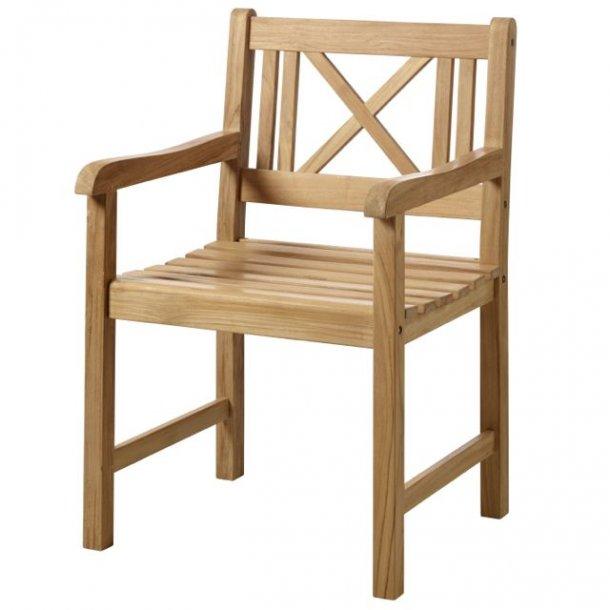 Havestol i teaktræ - klassisk stol Rosenborg