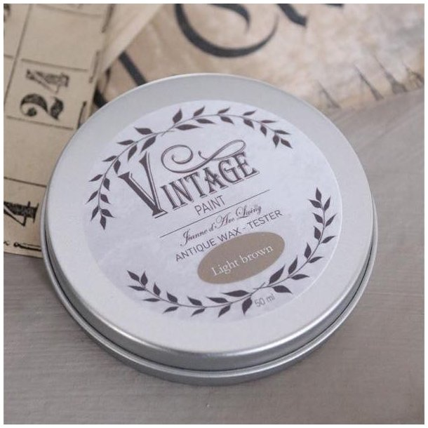 Vintage Paint voks - lys brun 35 gram