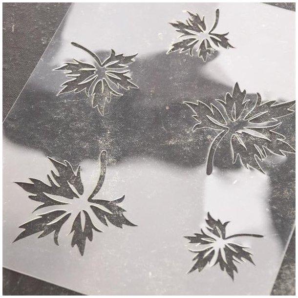 Stencil med blade