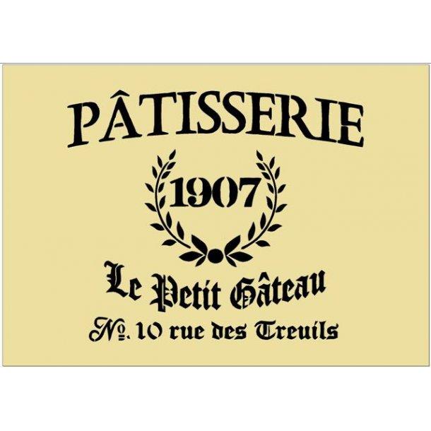 Stencil - Patisserie 1907 - str. A3