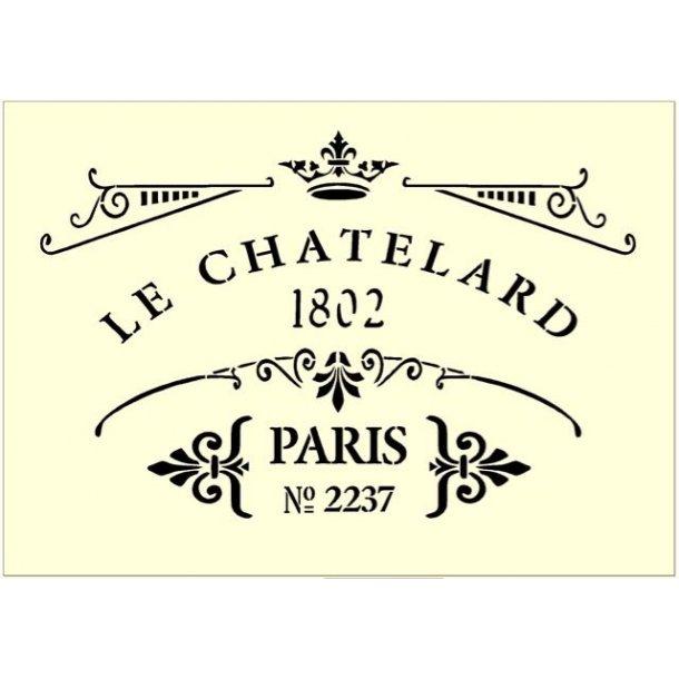 Stencil - Le Chatelard 1802 - str. A4