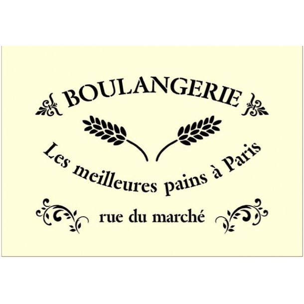 Stencil - Boulangerie - str. A3