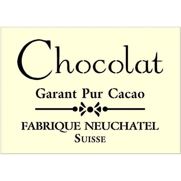 Stencil - Chocolat - str. A4