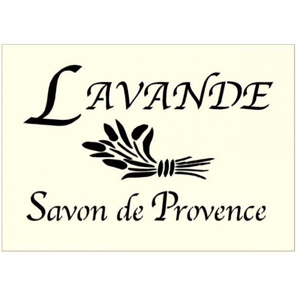Stencil - Lavande Savon de Provence - str. A5