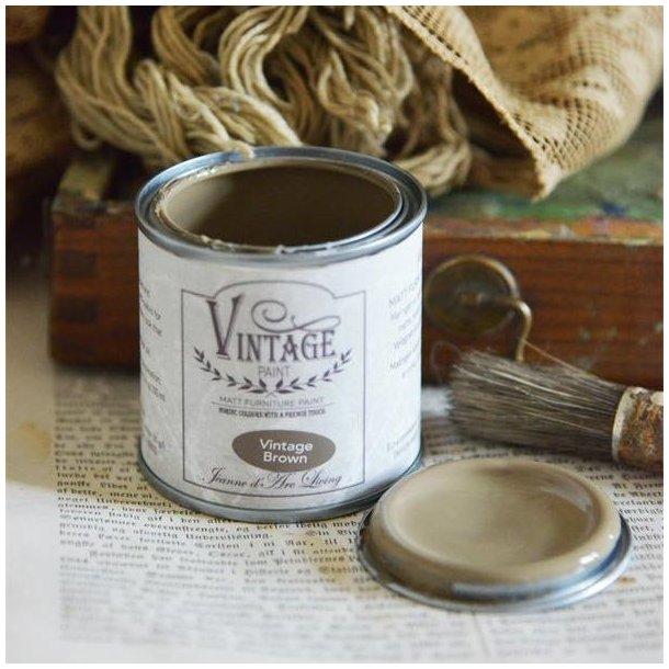 Vintage Brown- mat kalk maling - brun