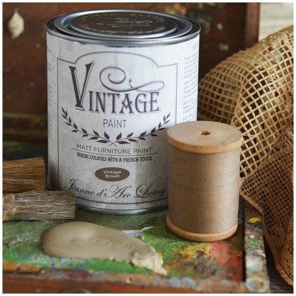 Vintage Brown- mat kalk maling 700 ml