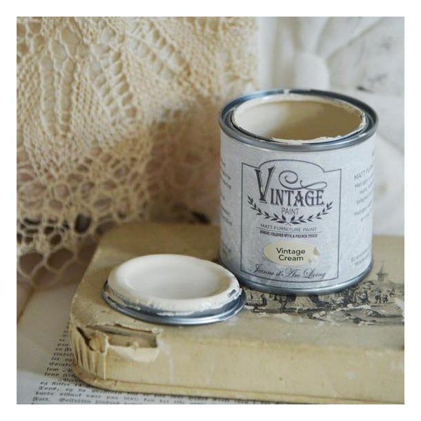 Vintage Cream mat kalk maling 100 ml
