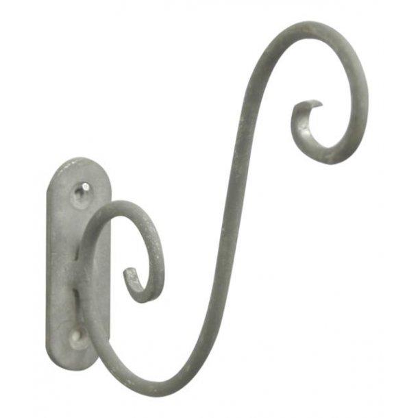 Vægholder til lanterner - grå/zink
