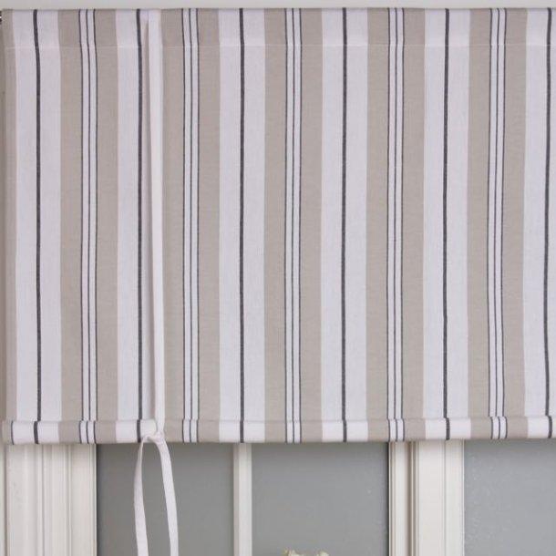 Foldegardin med striber - 160 cm