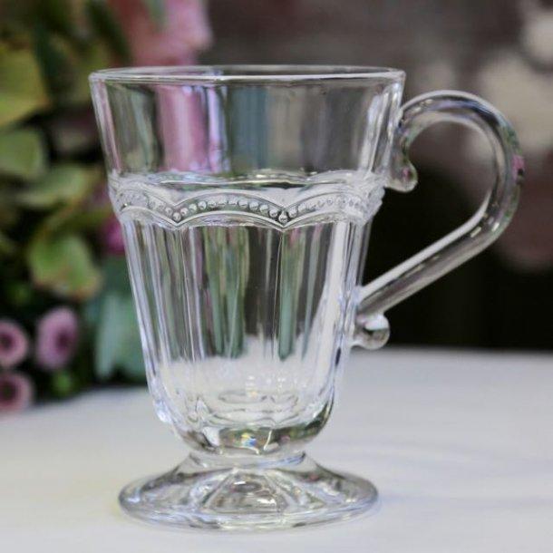 Krus i glas med perlekant - Antoinette