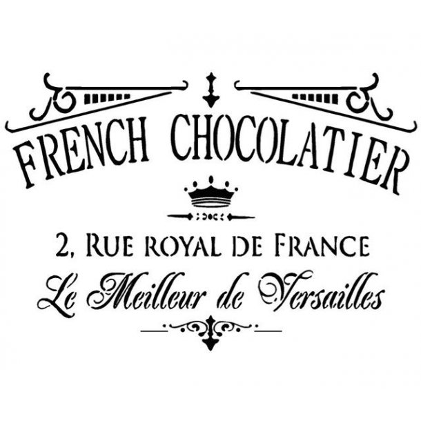 Stencil - French Chocolatier - str. A3