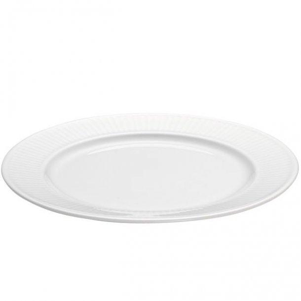Pillivuyt Plissé - hvid tallerken flad Ø20 cm