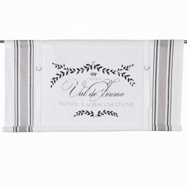 Provence foldegardin - grå - 120 cm