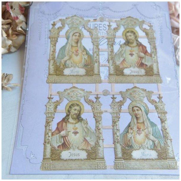 Glansbilleder med religiøse motiver