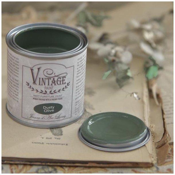 Dusty Olive - mat kalk maling - støvet oliven