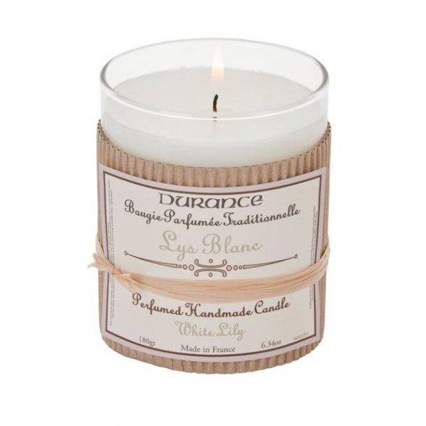 Durance - håndlavet duftlys - Hvid lilje