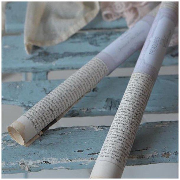 Rulle med 1 ark gammelt avispapir