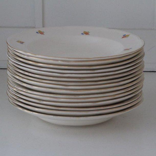 Dyb tallerken lille - Anna Sofie - god stand