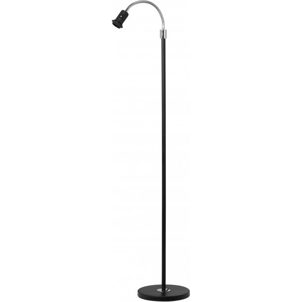 Lampefod med fleksibel top - sort