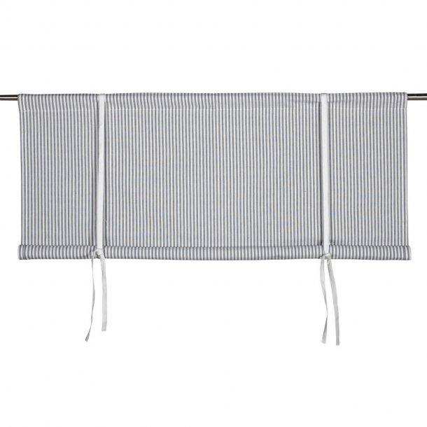 Foldegardin - Oskar stribet grå - 140 cm