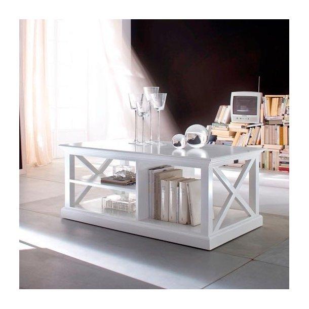 Sofabord - hvidt - med opbevaring