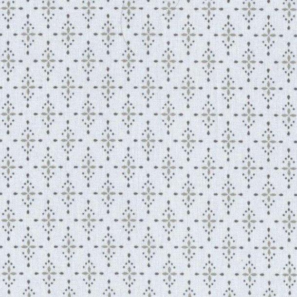 Dug i lys grå med mønster - 250 cm