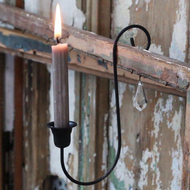 Lysholder i metal med prisme - kertelys