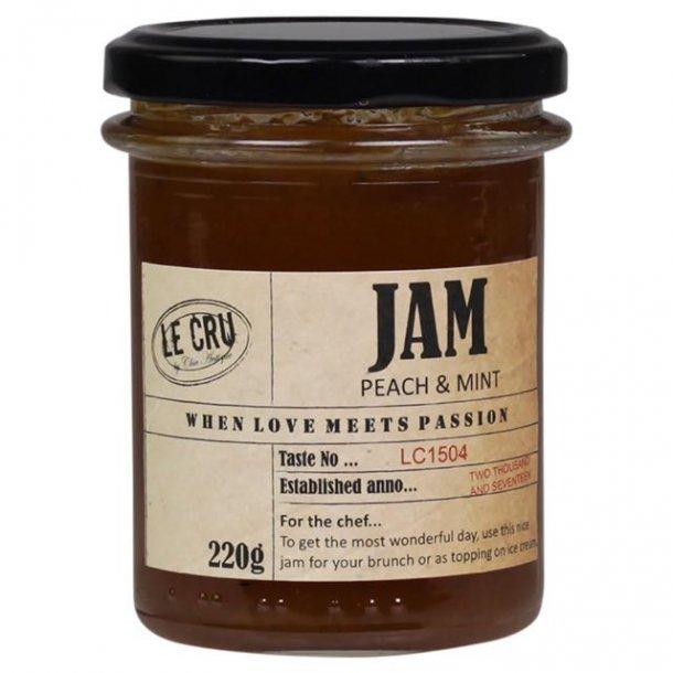 Le Cru delikatesser- marmelade - fersken / mynte