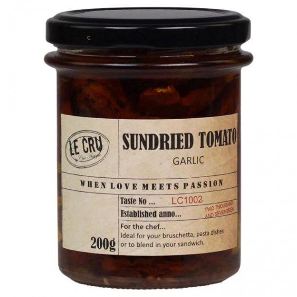 Le Cru delikatesser - soltørrede tomater - hvidløg
