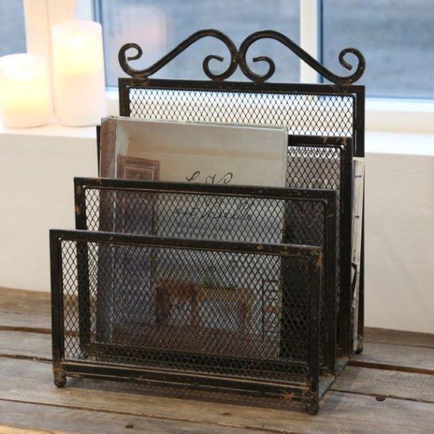 Avisholder i jern - fransk stil - EJ LAGER