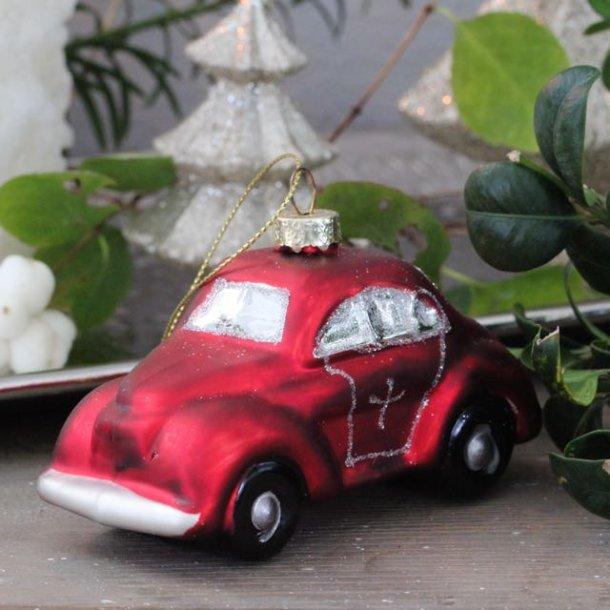 Julekugle - rød bil