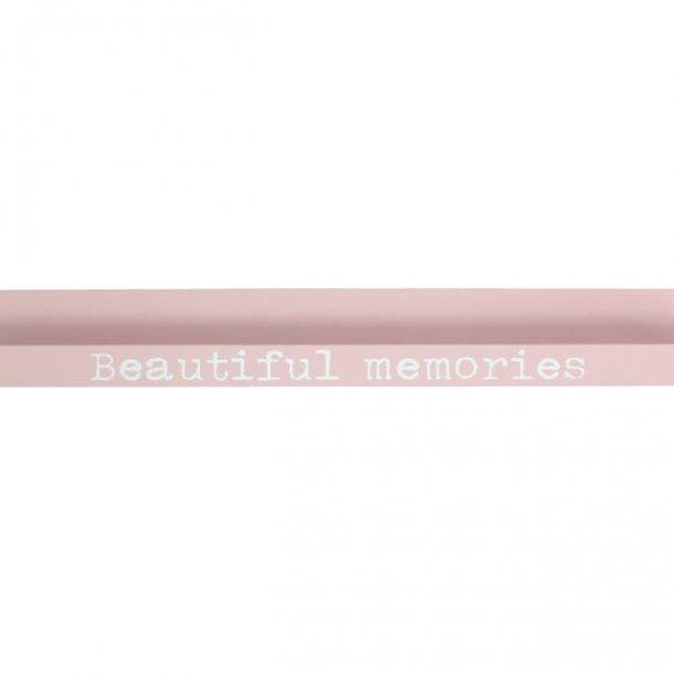 Hylde i rosa til billeder mm.