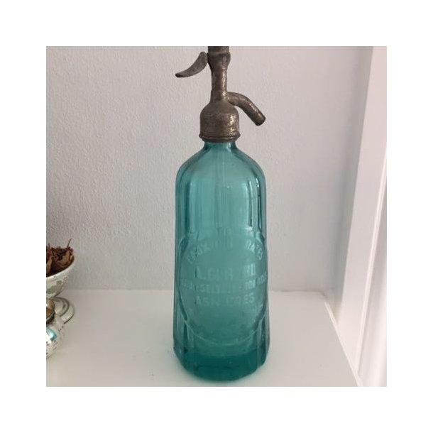 Sifon - turkisblå siphonflaske fra Frankrig