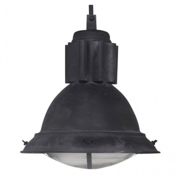 Industrial loftlampe - gråsort metal
