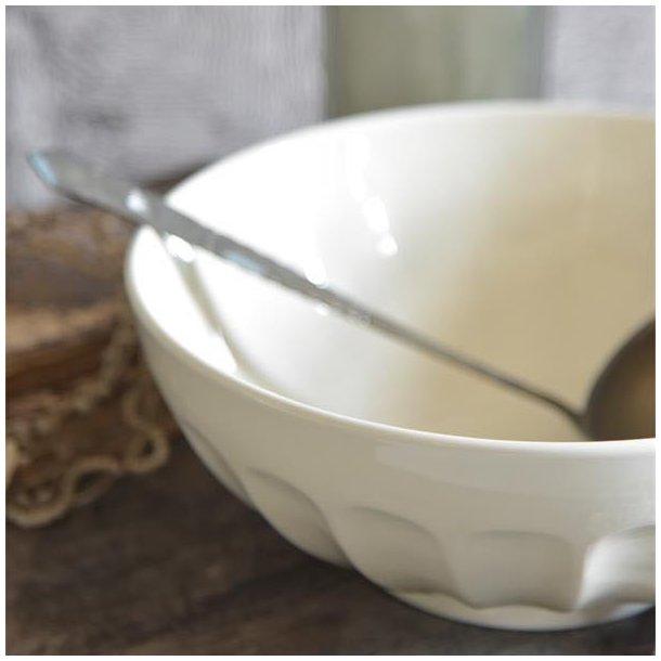 Skål i cremehvid porcelæn - stor