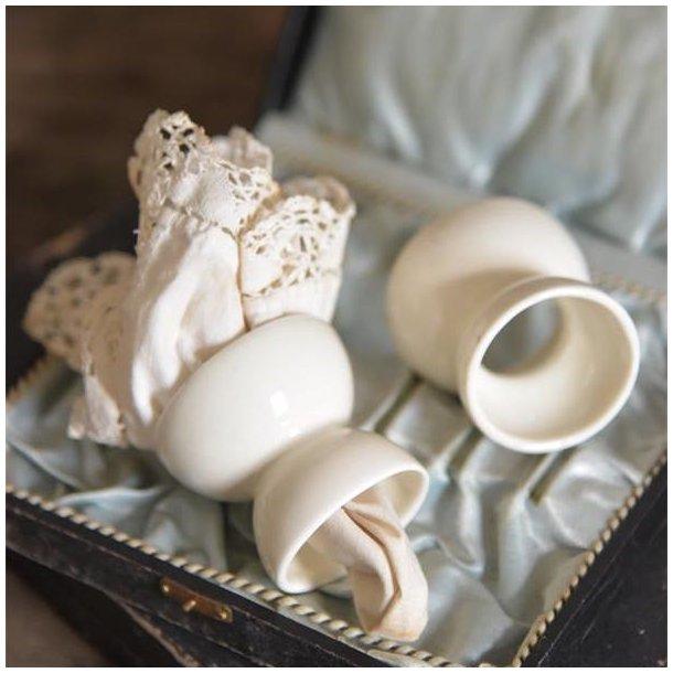 Servietring eller æggebæger - porcelæn