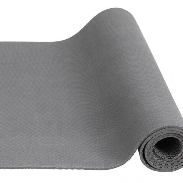 Yoga måtte i naturlig gummi - grå - EJ PÅ LAGER