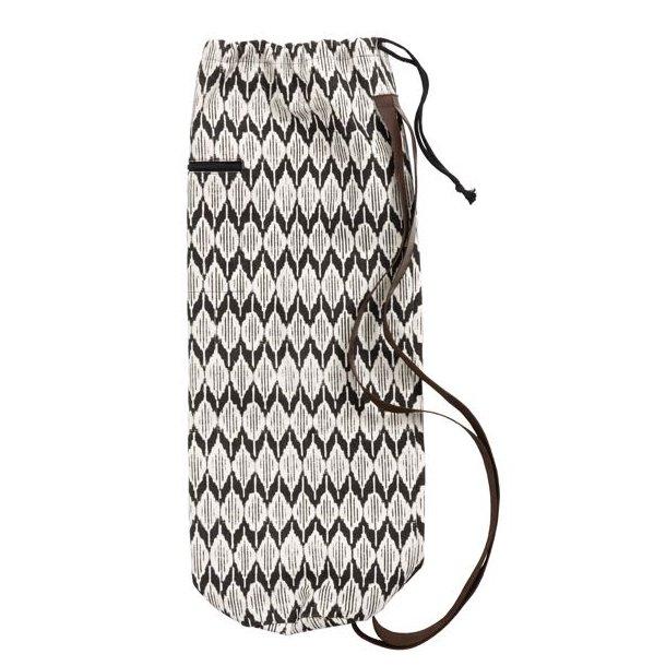 Yoga taske med mønster - vandafv. - EJ PÅ LAGER