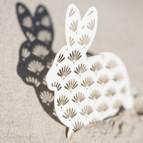 Påskepynt - påskehare i papir
