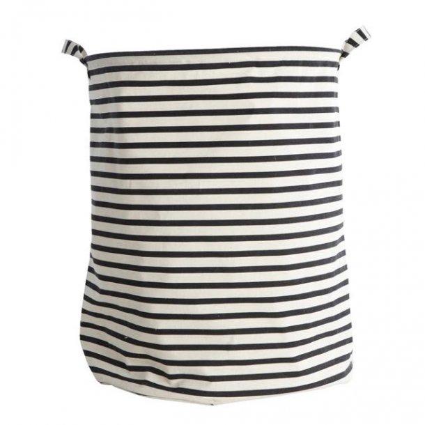 Vasketøjspose - striber - sort/hvid