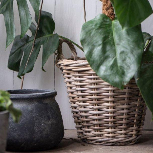 Fletkurv med plast indeni - til dine planter